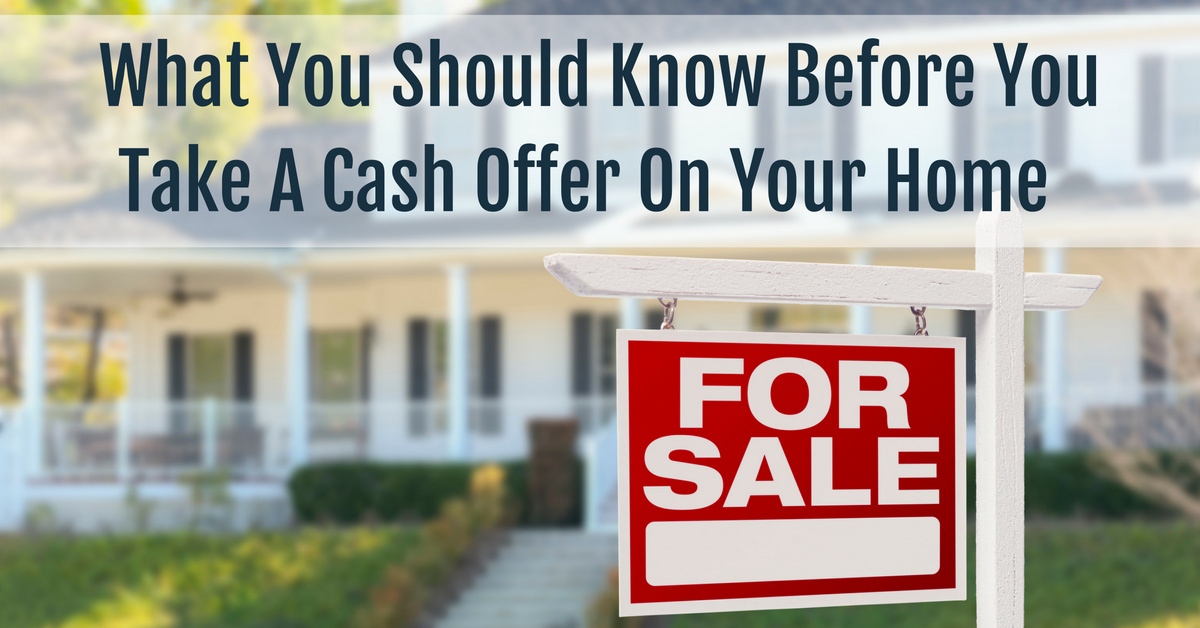 cash sale for home tips